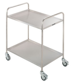2 tier catering service trolley